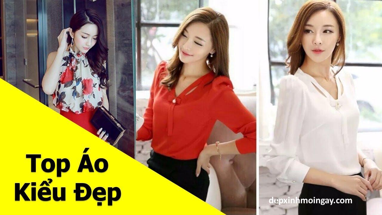 Top áo kiểu nữ đẹp   50 áo kiểu đẹp lạ mới thời trang Phần 7