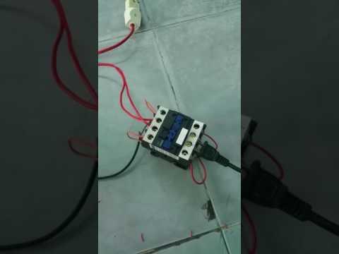 Test contactor 32A làm ATS chuyển mạch tự động