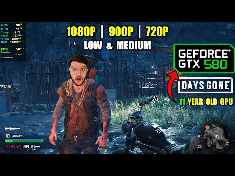 GTX 580 (from 2010) in Days Gone - This is INSANE Optimization! |