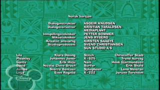 Disney Channel Scandinavia - LILO & STITCH : THE SERIES - Ending Credits / Outro