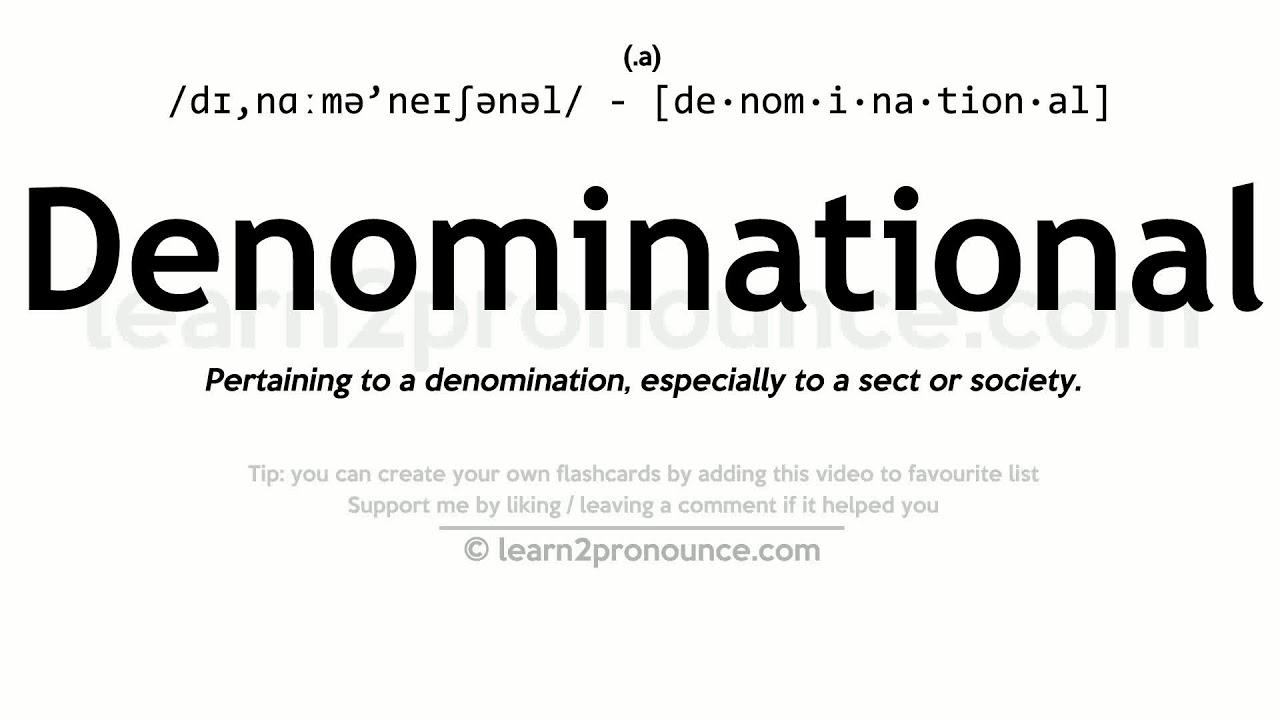 Denomination Definition