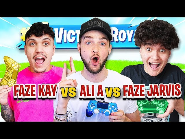 """Most Fortnite Wins Gets $50,000"" (FaZe Jarvis Vs Ali-A Vs FaZe Kay)"