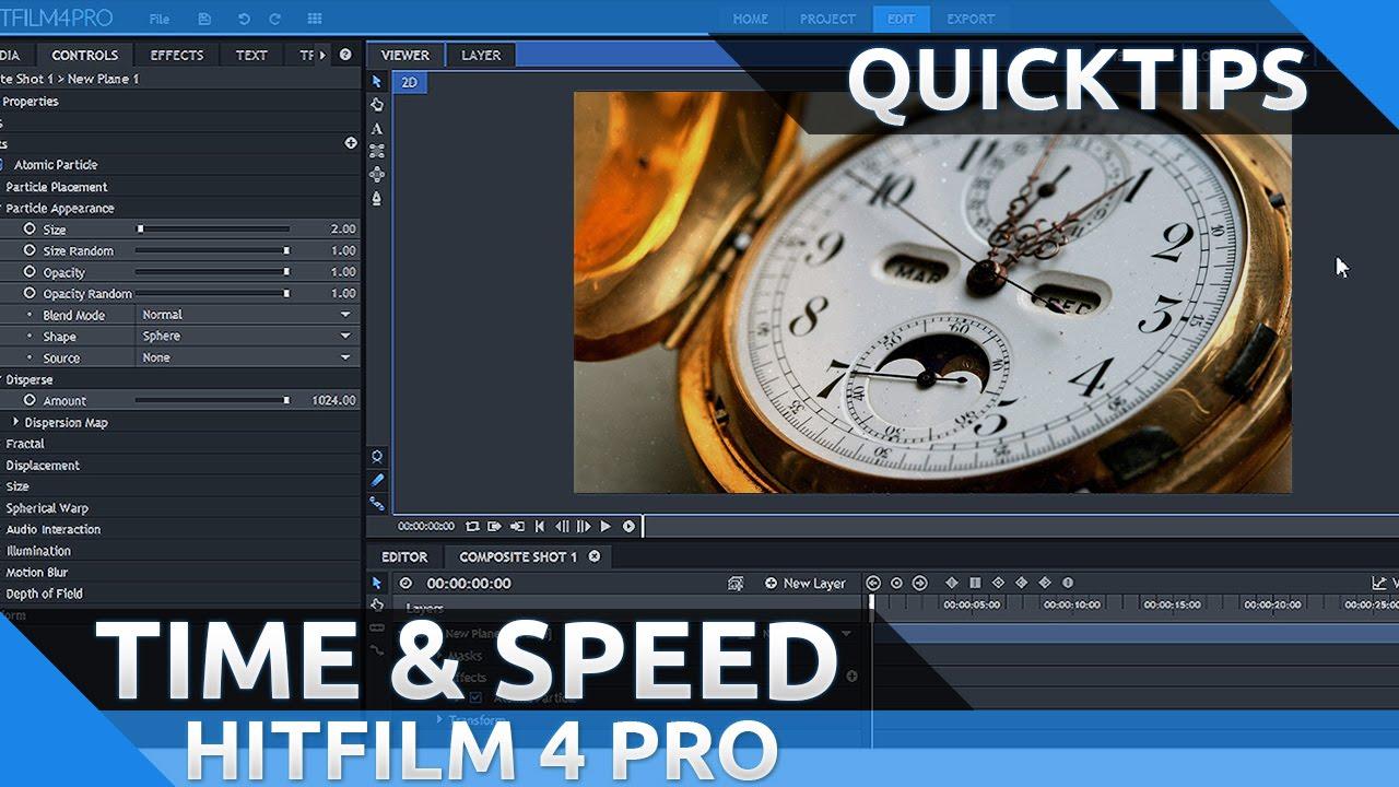 Hitfilm slow motion
