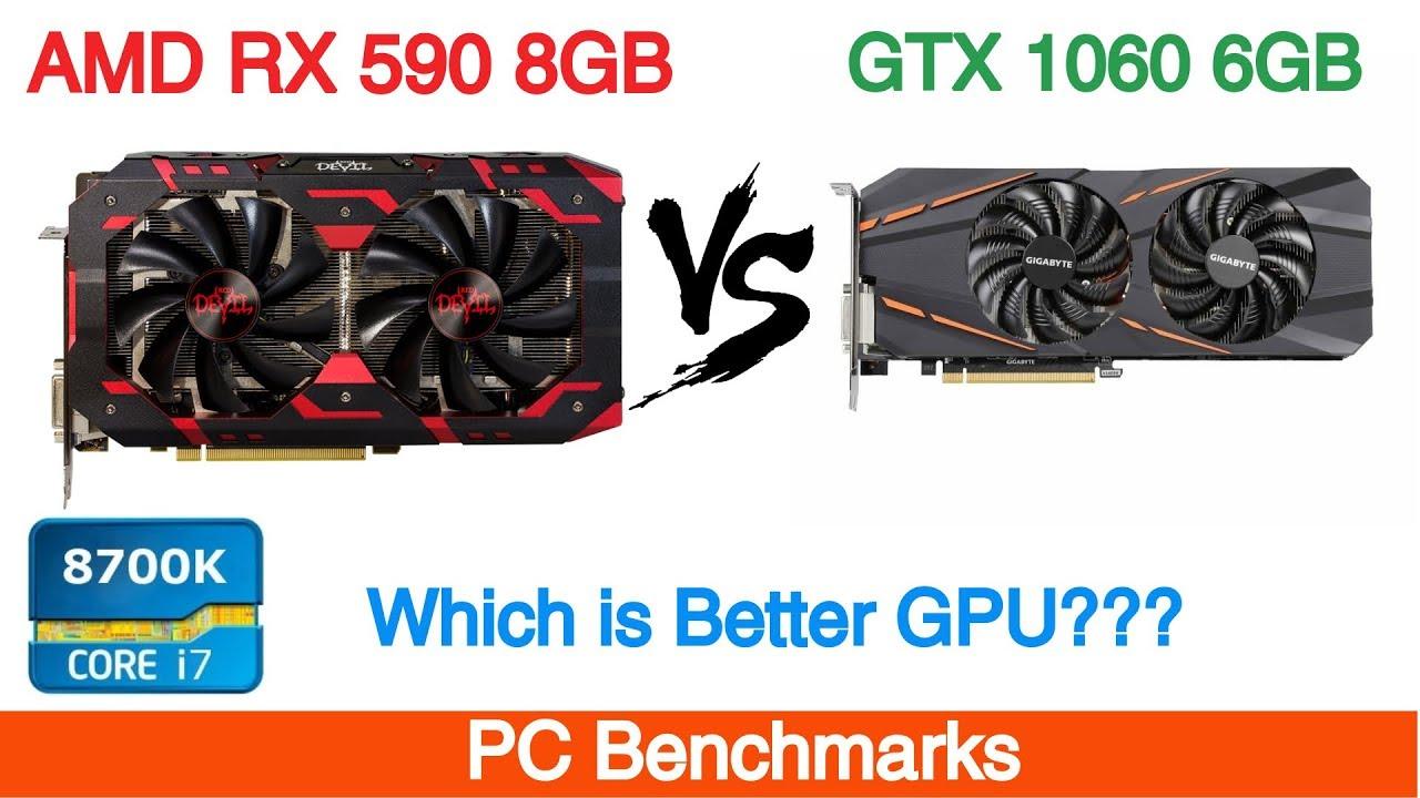 Amd Radeon Rx 590 8gb Vs Nvidia Gtx 1060 6gb Gaming Youtube