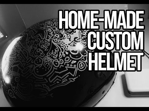 Making of custom, handmade motorcycle helmet