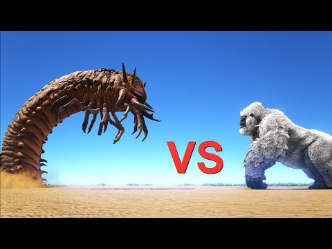 Deathworm vs Bosses (Broodmother, Megapithecus) || ARK: Survival Evolved || Cantex