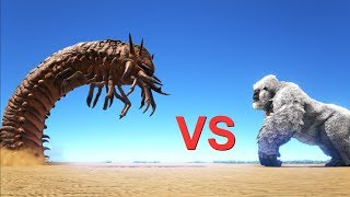 Deathworm vs Bosses (Broodmother, Megapithecus)    ARK: Survival Evolved    Cantex
