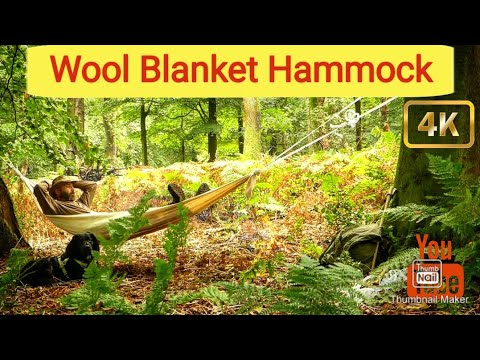 Bushcraft Wool Blanket Hammock/ Ash Cakes/ Charred Punk Wood/ Flint & Quartz.
