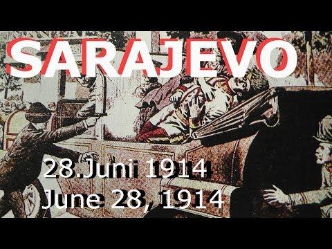 100 years ago-Vor 100 Jahren 28.06.1914, 06-28-1914 Sarajevo Attentat/assassination Beginn WW1 /1.WK