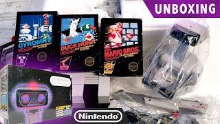 Test-Market R.O.B. NES Deluxe Unboxing - Super Mario, Gyromite & Duck Hunt game packs - Nintendo