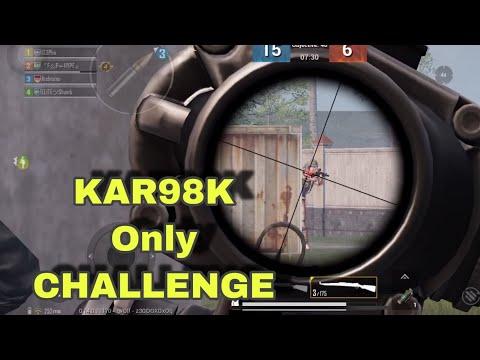 Kar98K ONLY CHALLENGE!!   TDM   PUBG MOBILE  
