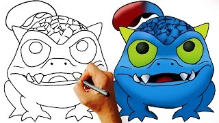 How to Draw Wrecking Ball Skylanders Easy