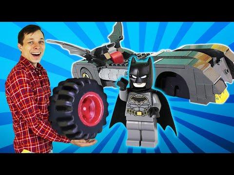 Машина для Бэтмена - Видео игры с супергероями и Федором - Игры для мальчиков