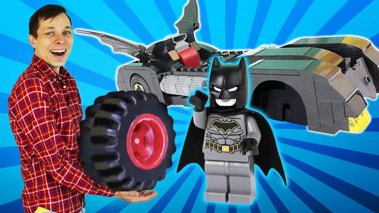 Машина для Бэмена - Видео игры с супергероями и Федором - Игры для мальчиков