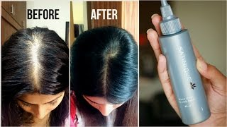 How to increase volume & density of hair? | Amway's Satnique Scalp Tonic Review | Kavya K
