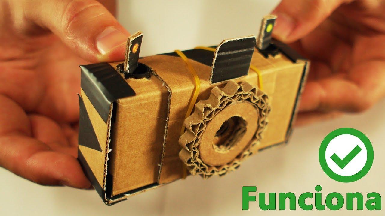 Como hacer tu propia CAMARA DE FOTOS de Carton en 5 minutos por SOLO 2 $
