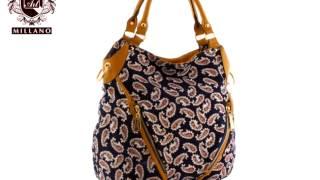 сумка из ткани(Модель T20008 - купить в интернет магазине http://artmillano.ua Заказать данный товар можно, перейдя по ссылке: http://artmillano..., 2014-03-20T11:41:49.000Z)