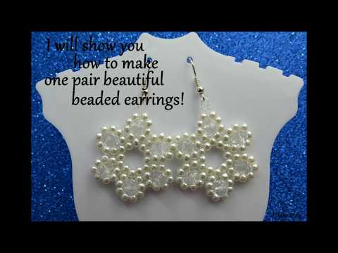 "Beaded earrings ""Starlet"" - Easy animated beading tutorial for beginners"