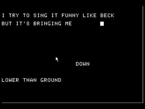 Jed's Other Poem (Beautiful Ground) By Grandaddy - Redone on the Apple IIe