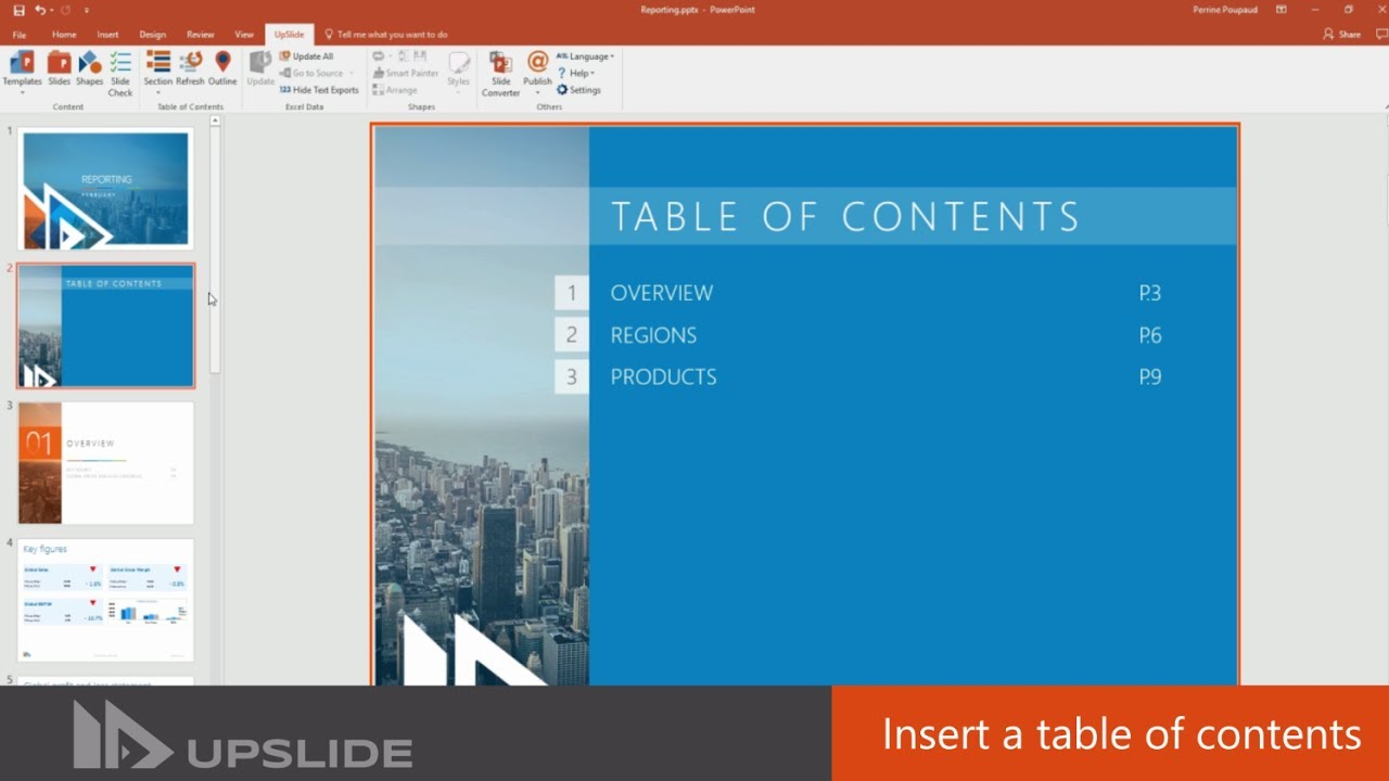 Table of contents upslide add in for powerpoint word youtube table of contents upslide add in for powerpoint word maxwellsz