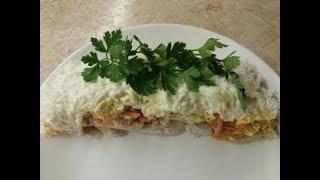 Салат з курки/Салат с курицей и корейской морковкой/Слоеный салат с курицей/Best chicken salad