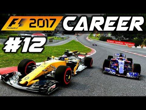 F1 2017 Career Mode Part 12: INTENSE BATTLES AT SPA!