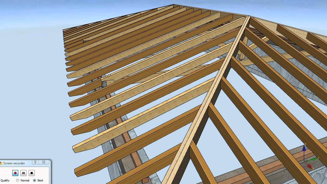 Estructura de madera bilbao gordexola youtube for Como hacer tejados de madera