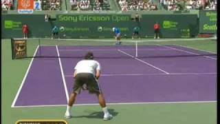 Federer smashed his racquet vs Djokovic Miami 2009