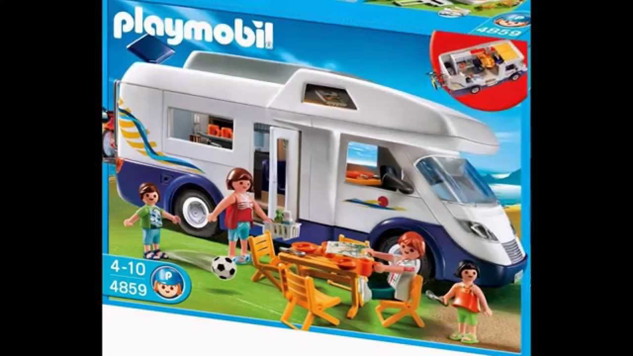 Caravana familiar playmobil juegos y juguetes youtube for Autocaravana playmobil