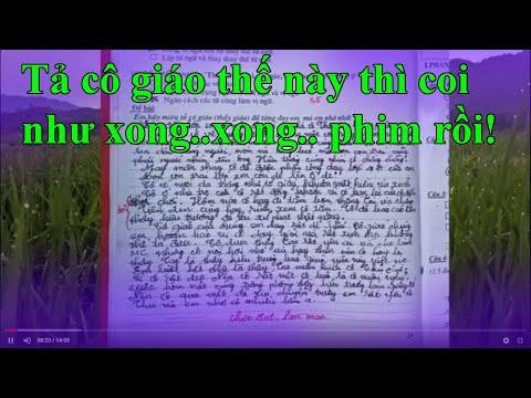 Bài văn tả cô giáo trẻ có khúc mắc gì đó với thầy Hiệu trưởng RẤT BÍ HIỂM