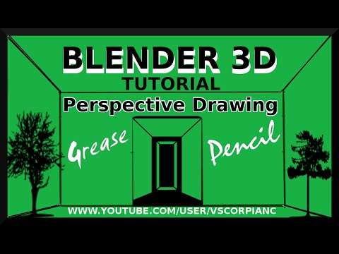 Blender 3D Tutorial - Grease Pencil, How to Make Perspective Drawings by VscorpianC
