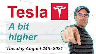 Tesla (TSLA) An ok day, a bit higher - Technical Stock Analysis August 24th 2021