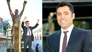 Boxer Oscar De La Hoya Gets A Statue At Staples Center In L.A. [2008]