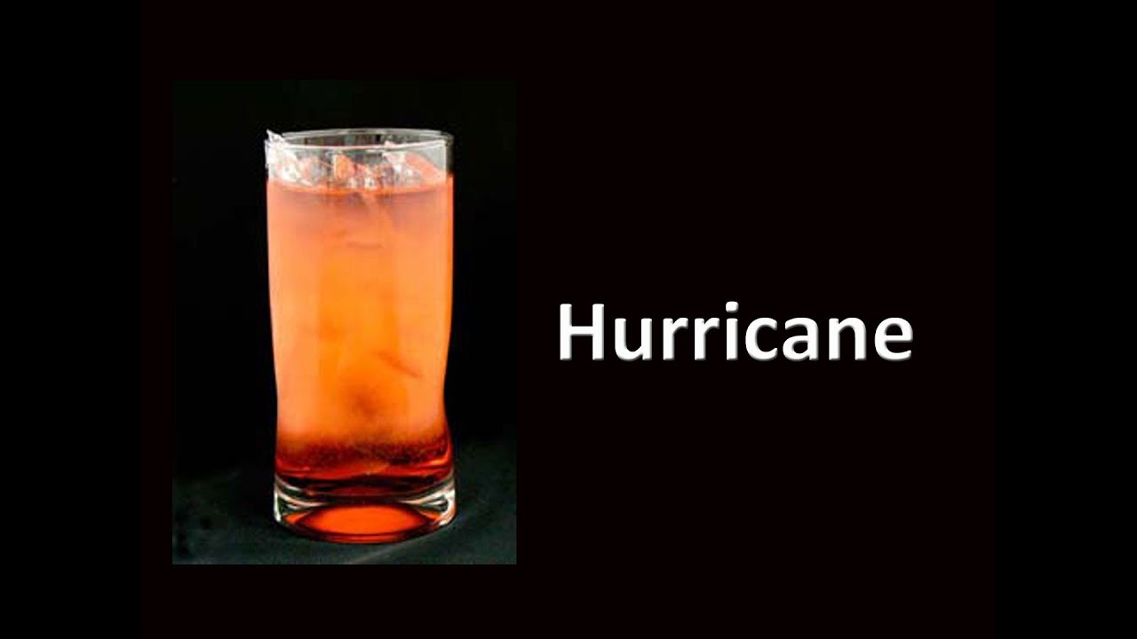 Hurricane cocktail drink recipe youtube for Mixed drink recipes by ingredient