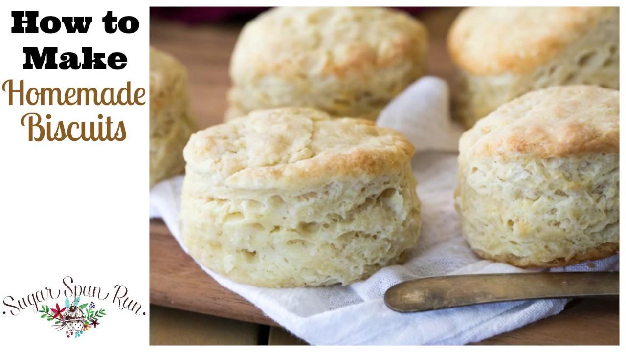 Easy Homemade Biscuits - Sugar Spun Run