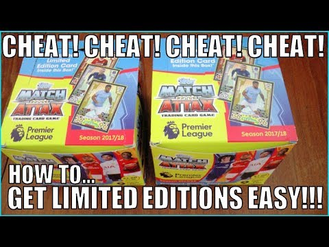 CHEAT! GET LIMITED EDITIONS PACK SEARCHING ! | Match Attax Premier League 2017-18 | 100% WORKING!