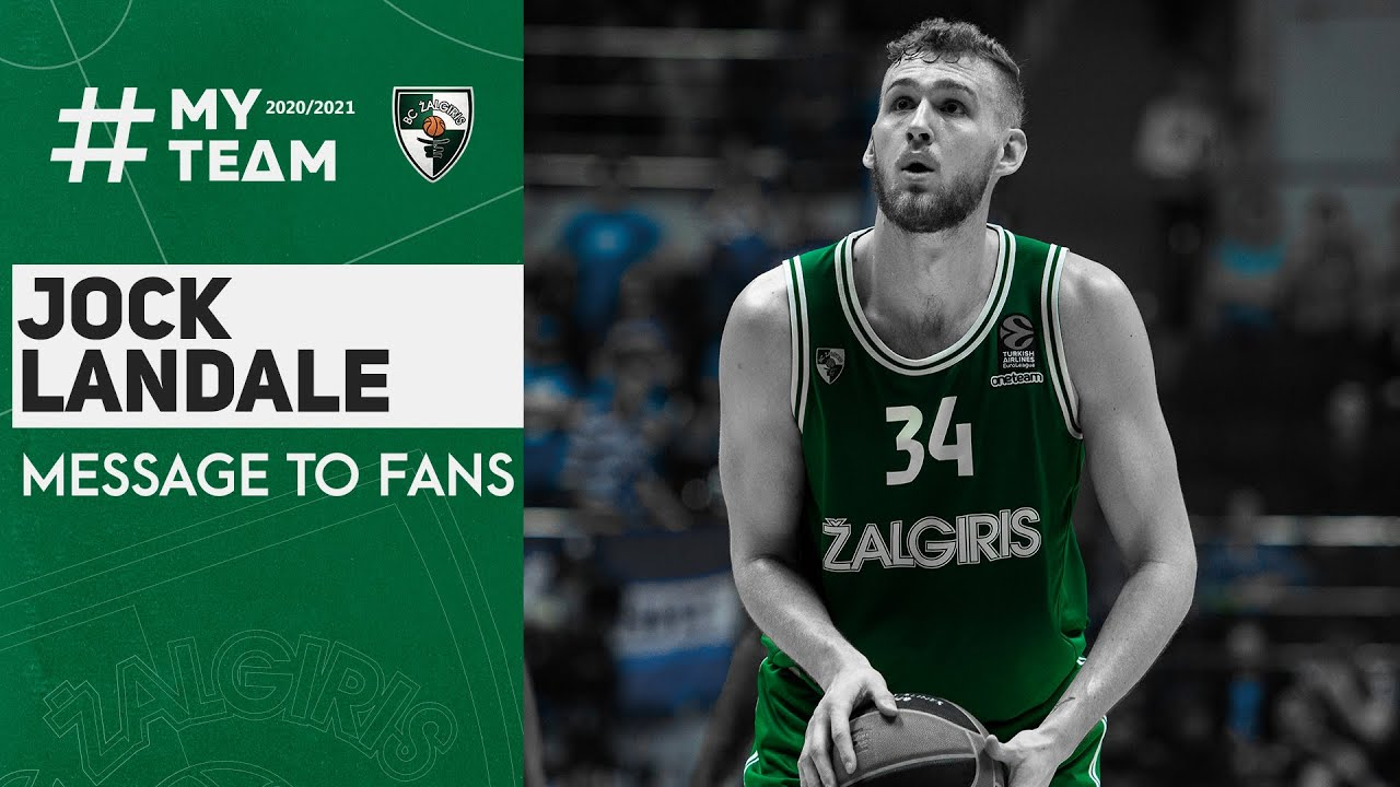 Jock Landale sends his goodbyes to Kaunas and the Zalgiris fans