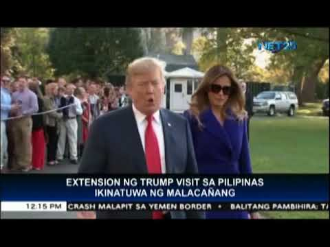 Malacañang welcomes extension of US President Trump's Philippine visit