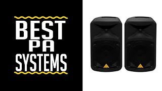 Best PA Speaker Systems 2019 | Best Portable Pa System Under $1000