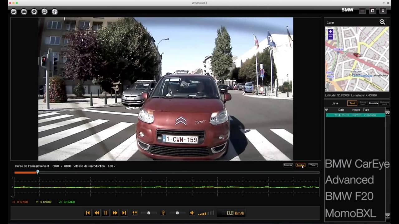 Programma Dlya Videoregistratora Bmw Advanced Car Eye Youtube