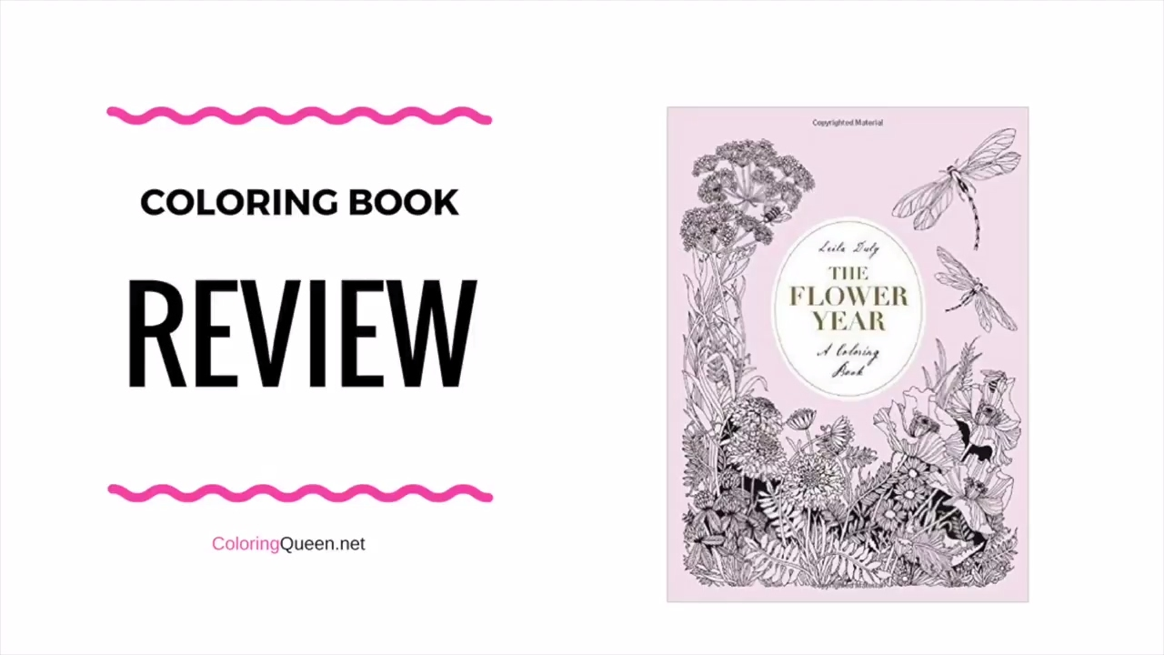 The Flower Year A Coloring Book Coloring Book Review Leila Duly Youtube