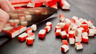 7 необычных салатов с КРАБОВЫМИ ПАЛОЧКАМИ. Новинки и оригинальные рецепты