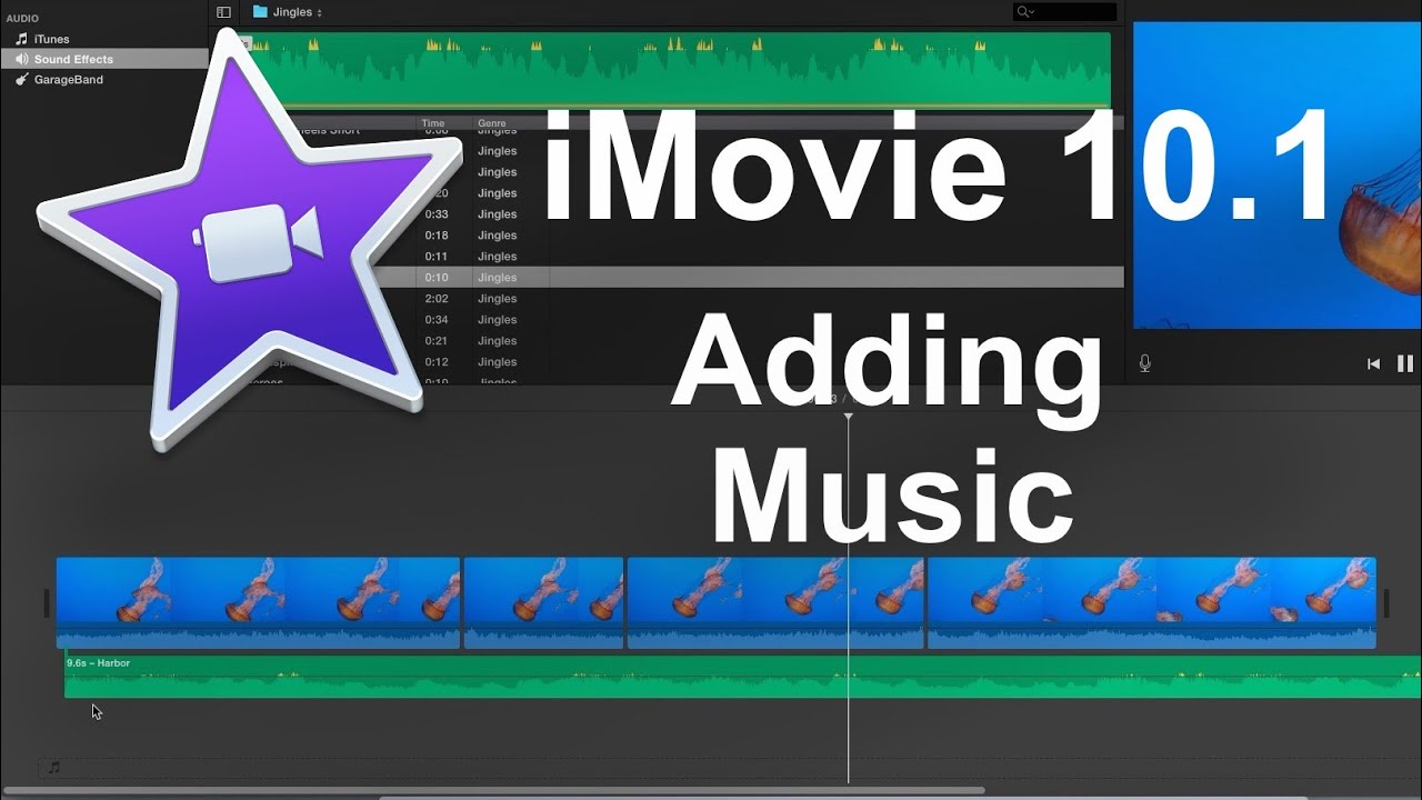 Imovie 10 1 2016 How To Add Music Beginner Youtube