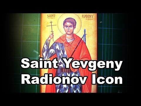 Russian Orthodox icon saint Yevgeny Rodionov
