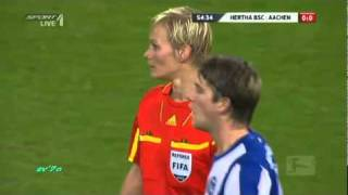 Soccer Player Tabs Judge's Boob!!! MUST SEE!!!