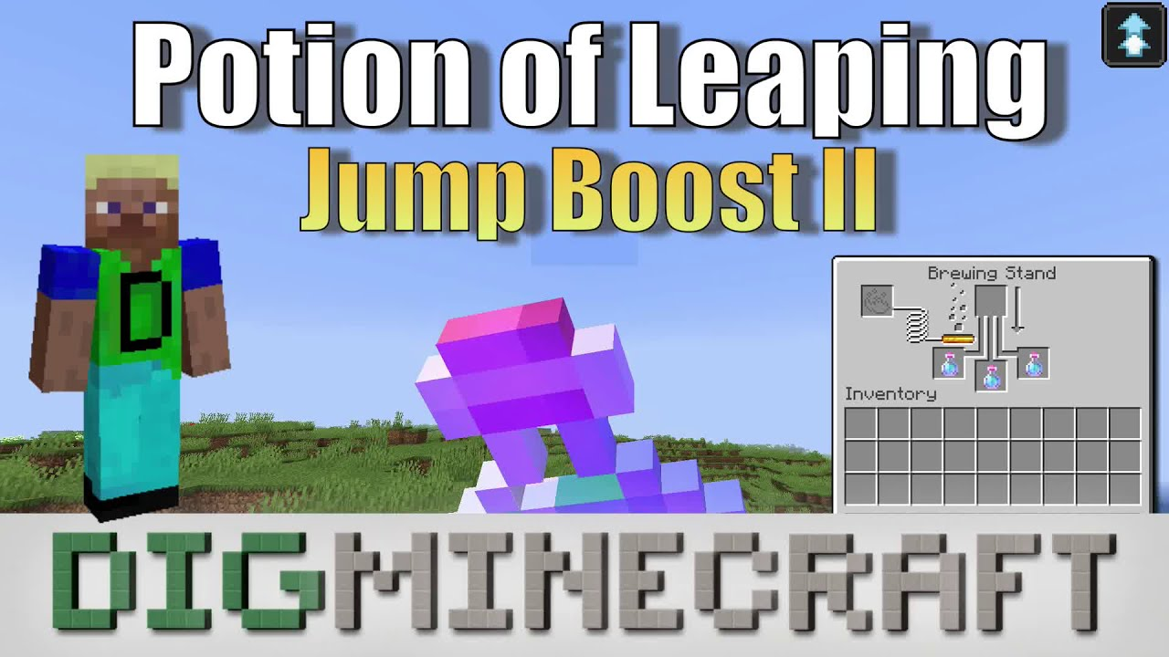 How to make a Potion of Leaping (1:30 - Jump Boost II) in