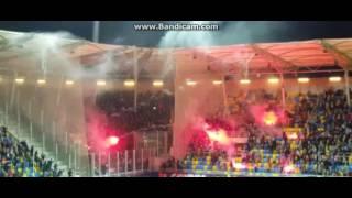 Arka Gdynia - Lechia Gdańsk derby 2016 hooligans doping race zadyma przed meczem.