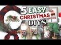 5 Dollar Tree Christmas Decor Projects | DIY Dollar Store Christmas Decor | Krafts by Katelyn
