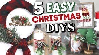 5 Dollar Tree Christmas Decor Projects | Diy Dollar Store