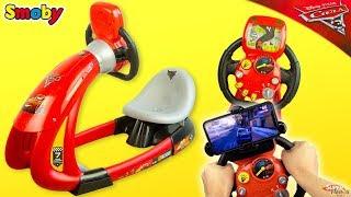 Simulateur de Course Cars Smoby V8 Driver Flash McQueen Jouet Noel 2018 Unboxing Toy Youtube Kids